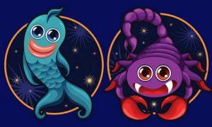 Скорпион и Рыбы — совместимость мужчины и женщины