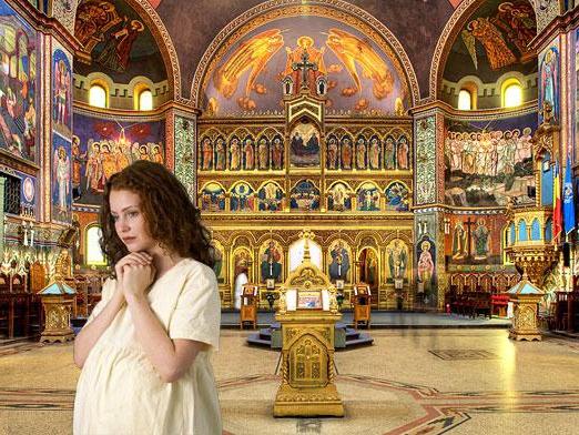Можно ли беременным посещать церковь
